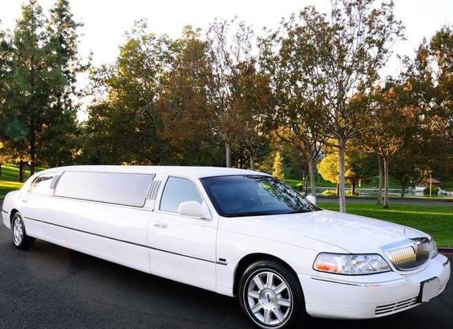 White SUV Limo Rental Chino